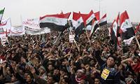 Tens of thousands of Sunni Muslims protest in Iraq