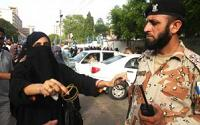 Pakistani woman offers bangles  to shame one of the soldiers