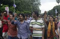 Bangladeshi social activists took part in a nationwide strike over the conviction and sentencing of Azam
