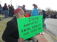 Thousands watched this Jamaat placard during the MLK parade in Baltimore