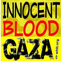 Innocent Blood Gaza Sign