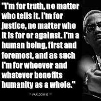 Malcolm X with Quote