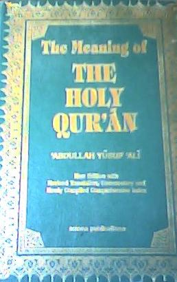 Holy Qur'an | Yusuf Ali translation